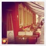 Der Außenbereich des Vorstadt Cafés
