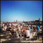 Panoramablick auf dem Café Vorhoelzer Forum